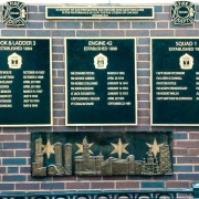 Bronze plaques for the Chicago Fire Department